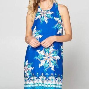 ReneeC. Women's Trendy Sleeveless Print Mini Dress